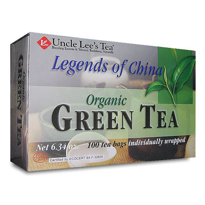 Legends of China, Organic Green Tea, 100 Tea Bags, Uncle Lee's Tea