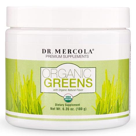 Organic Greens Powder, Natural Flavor, 6.35 oz (180 g), Dr. Mercola