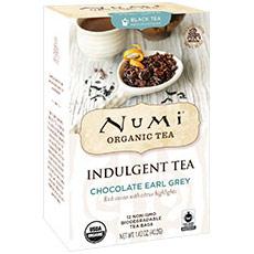 Organic Indulgent Tea, Chocolate Earl Grey, 12 Tea Bags, Numi Tea