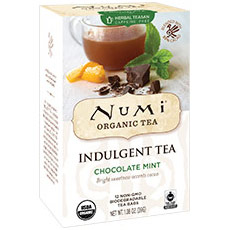 Organic Indulgent Tea, Chocolate Mint, 12 Tea Bags, Numi Tea