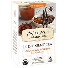 Organic Indulgent Tea, Chocolate Rooibos, 12 Tea Bags, Numi Tea