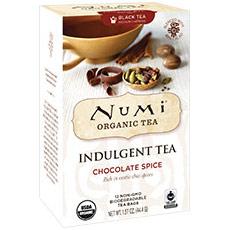 Organic Indulgent Tea, Chocolate Spice, 12 Tea Bags, Numi Tea