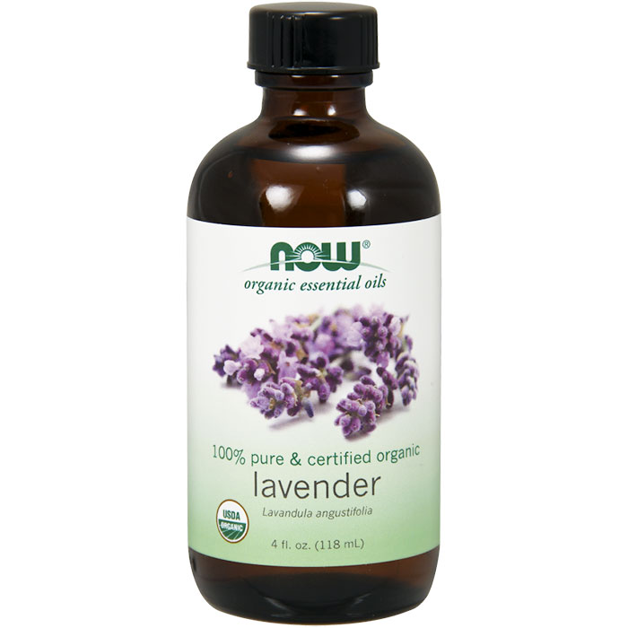 Organic Lavender Oil, 100% Pure, 4 oz, NOW Foods