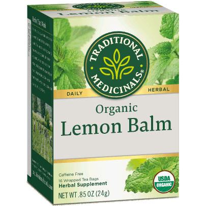Organic Lemon Balm Tea, 16 Tea Bags, Traditional Medicinals Teas