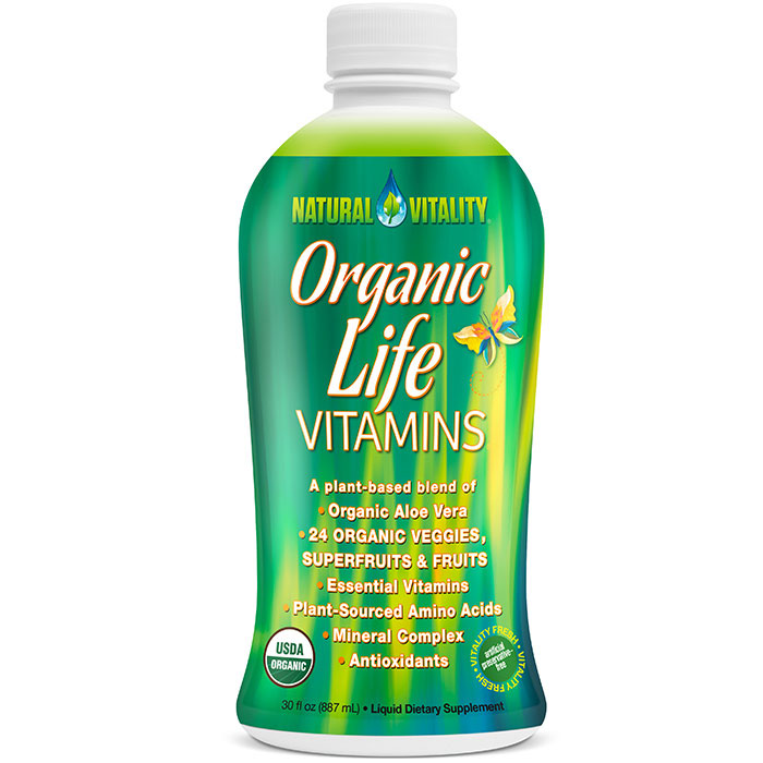 Organic Life Vitamins, Liquid Multi-Vitamins, 30 oz, Peter Gillham's Natural Vitality