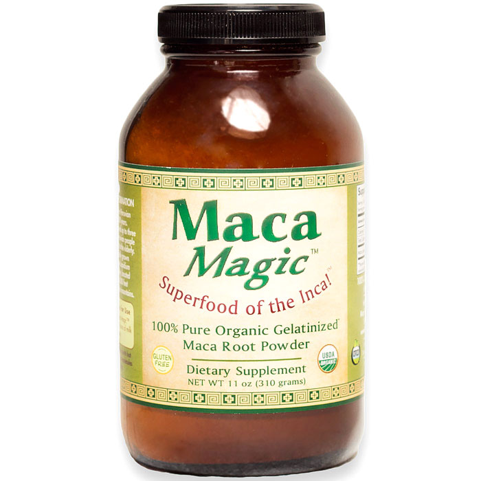 Organic Gelatinized Maca Root Powder, Value Size, 11 oz, Maca Magic