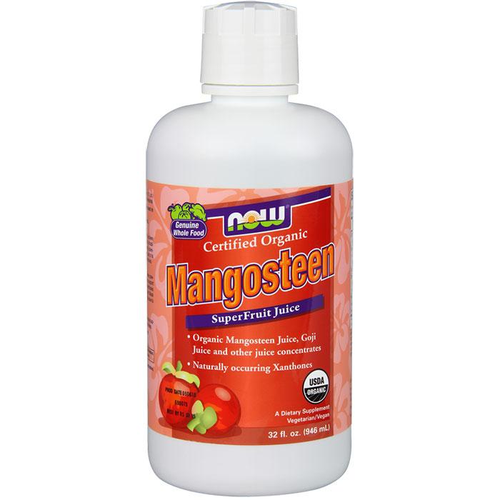 Organic Mangosteen Juice Blend, 32 oz, NOW Foods