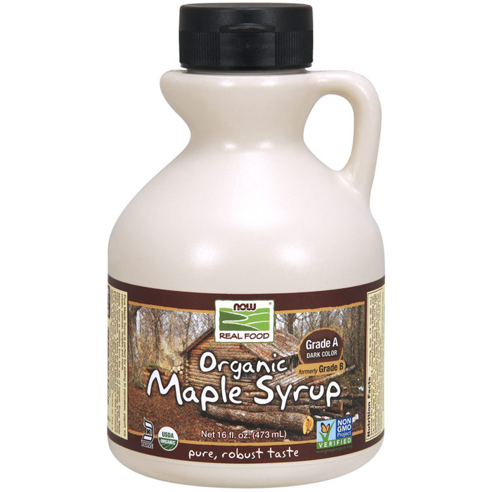 Organic Maple Syrup, Grade A Dark Color (Formerly Grade B), 16 oz, NOW Foods