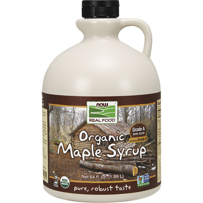 Organic Maple Syrup, Grade A Dark Color, Value Size, 64 oz, NOW Foods