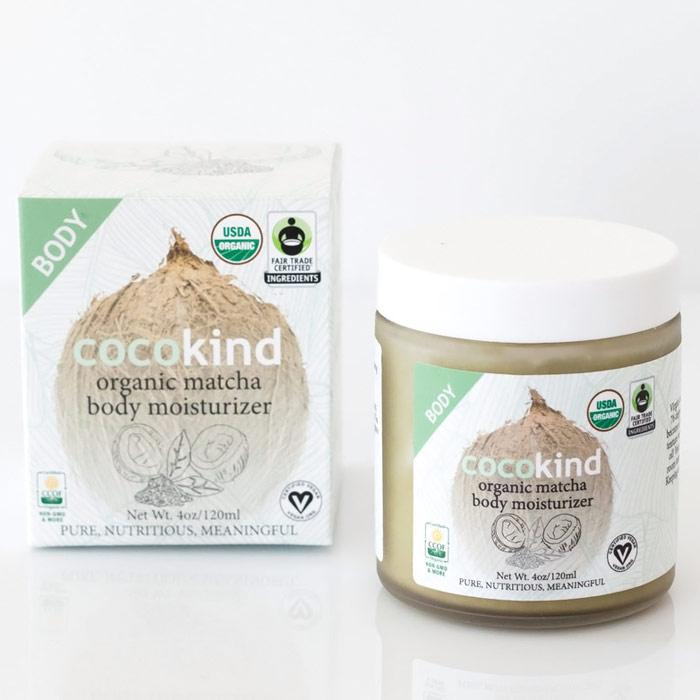 Organic Matcha Body Moisturizer, 4 oz, Cocokind Coconut Oil Skincare