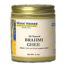 Organic Brahmi Ghee (not for cooking), 7 oz, Vadik Herbs