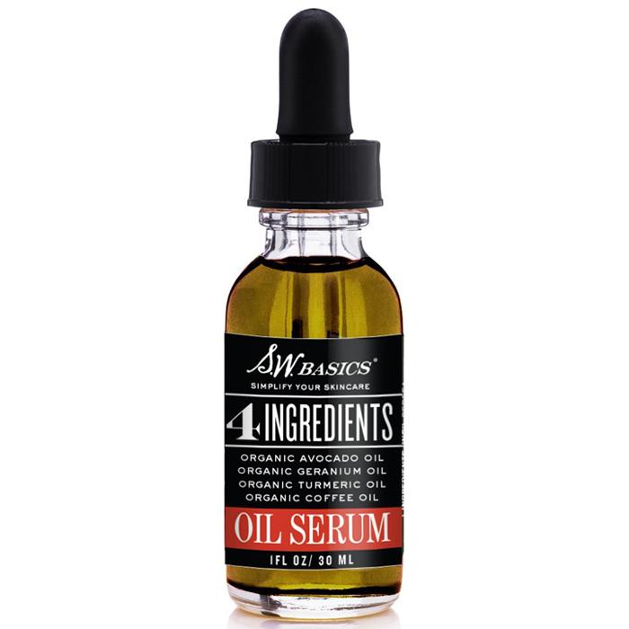 Organic Oil Serum, 4 Ingredients Face Serum, 1 oz, S.W. Basics