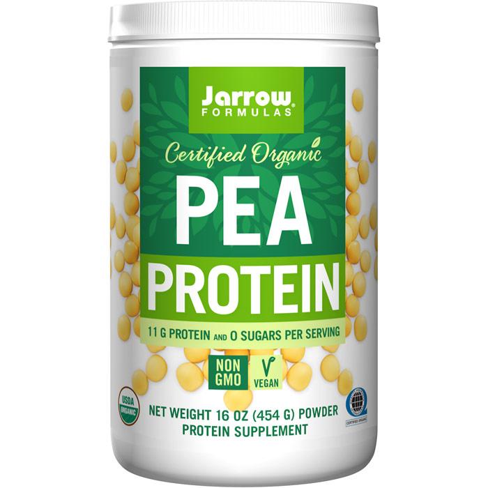 Organic Pea Protein Powder, 16 oz (454 g), Jarrow Formulas