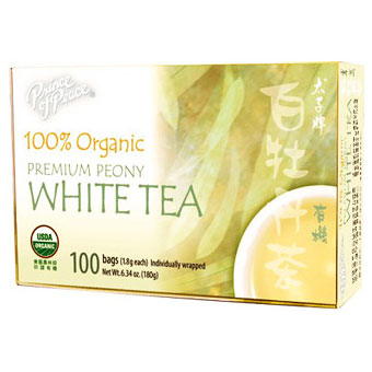 Organic Peony White Tea 100 tea bag, Prince of Peace