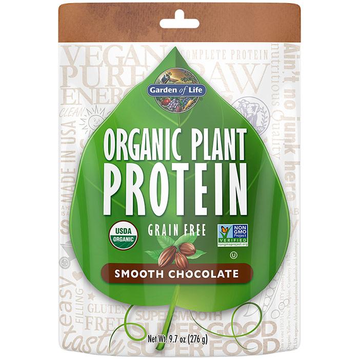 Organic Plant Protein Powder - Smooth Chocolate, 280 g, Garden of Life