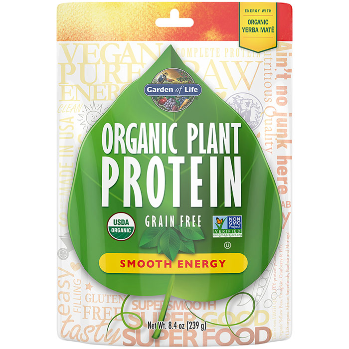 Organic Plant Protein Powder - Smooth Energy, 240 g, Garden of Life