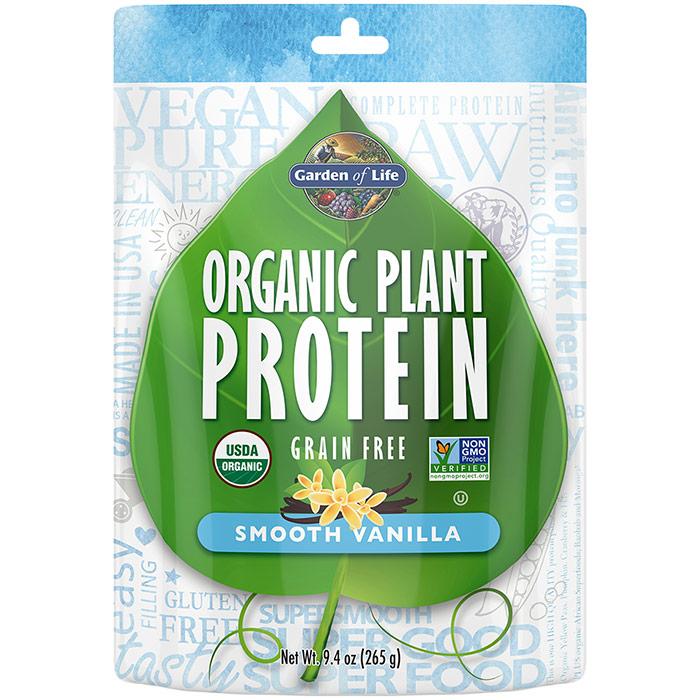 Organic Plant Protein Powder - Smooth Vanilla, 260 g, Garden of Life