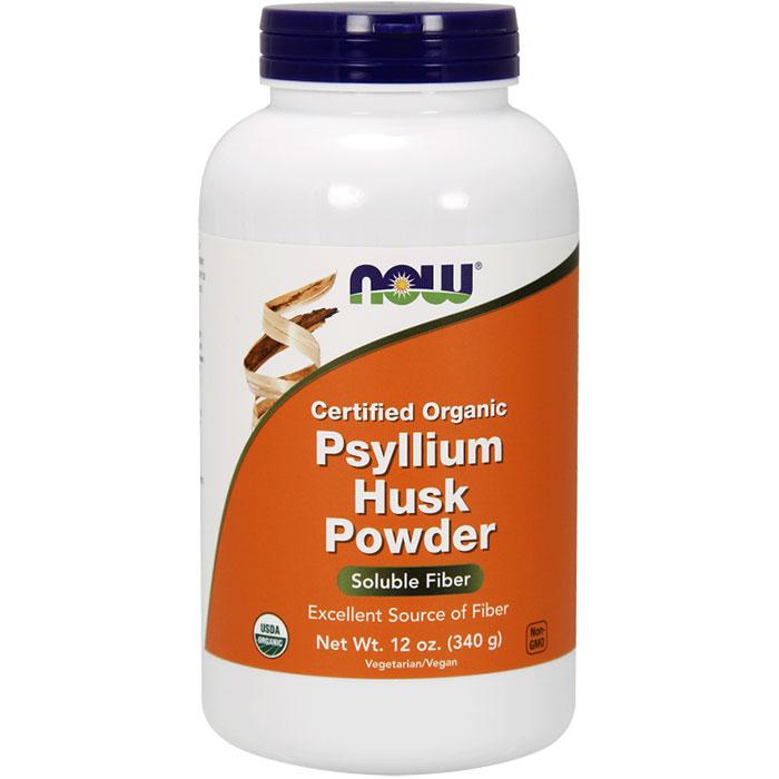Organic Psyllium Husk Powder, 12 oz, NOW Foods