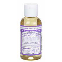 Organic Pure Castile Liquid Soap Lavender 2 oz from Dr. Bronner's Magic Soaps (Bath and Beauty - Soaps)