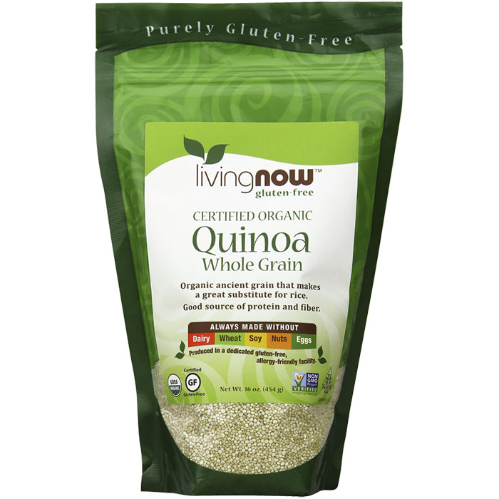 Organic Quinoa Whole Grain, 1 lb, NOW Foods