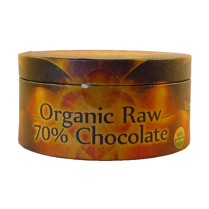 Organic Raw 70% Dark Chocolate, 8.8 oz (250 g), Earth Circle Organics