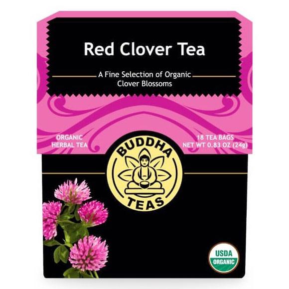 Organic Red Clover Tea, 18 Tea Bags x 6 Box, Buddha Teas