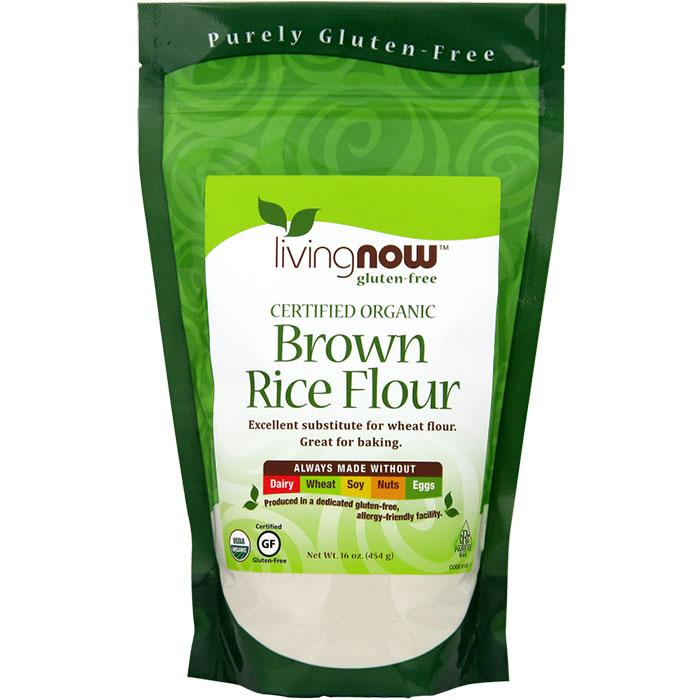 Brown Rice Flour, Organic, 16 oz, NOW Foods