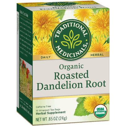 Organic Roasted Dandelion Root Tea 16 bags, Traditional Medicinals Teas