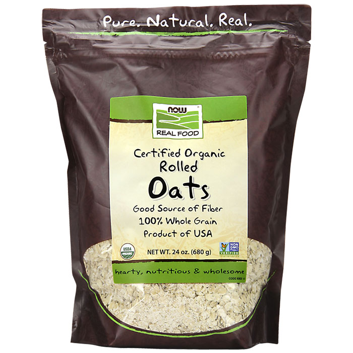 Organic Rolled Oats, 24 oz, NOW Foods