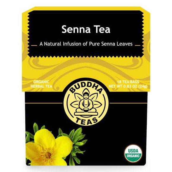 Organic Senna Tea, 18 Tea Bags x 6 Box, Buddha Teas