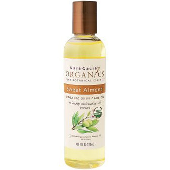 Organic Skin Care Oil Sweet Almond Oil 4 fl oz from Aura Cacia Organic