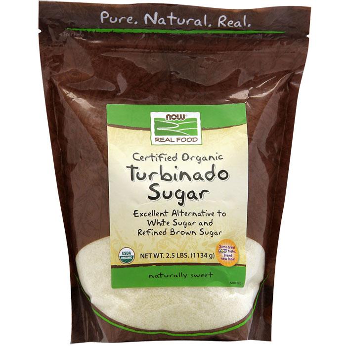Organic Turbinado Sugar, 2.5 lb, NOW Foods