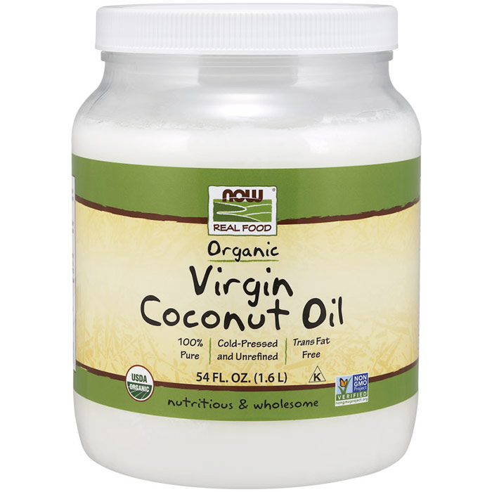 Organic Virgin Coconut Cooking Oil, 54 oz, NOW Foods