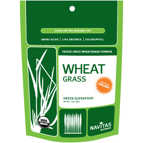 Organic Freeze-Dried Wheat Grass Powder, 1 oz, Navitas Naturals