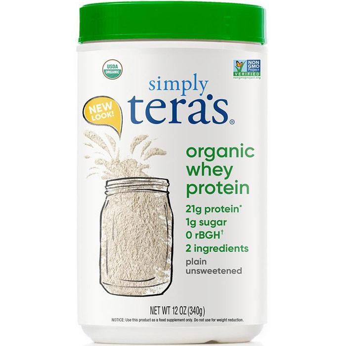 Organic Whey Protein - Plain Whey Unsweetened, 12 oz, Teras Whey