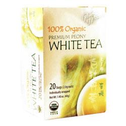 Organic Peony White Tea, 20 Tea Bags, Prince of Peace