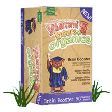 Organic Yummi Bears Brain Booster, 90 Gummy Bears, Hero Nutritionals