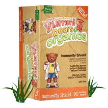 Organic Yummi Bears Immunity Shield, 90 Gummy Bears, Hero Nutritionals