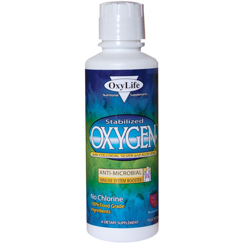 Stabilized Oxygen with Colloidal Silver and Aloe Vera, Orange-Pineapple, 16 oz, Oxylife Products