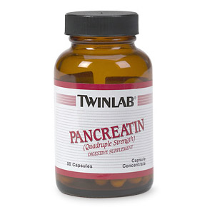 Image of Pancreatin Quadruple Strength 50 caps from Twinlab