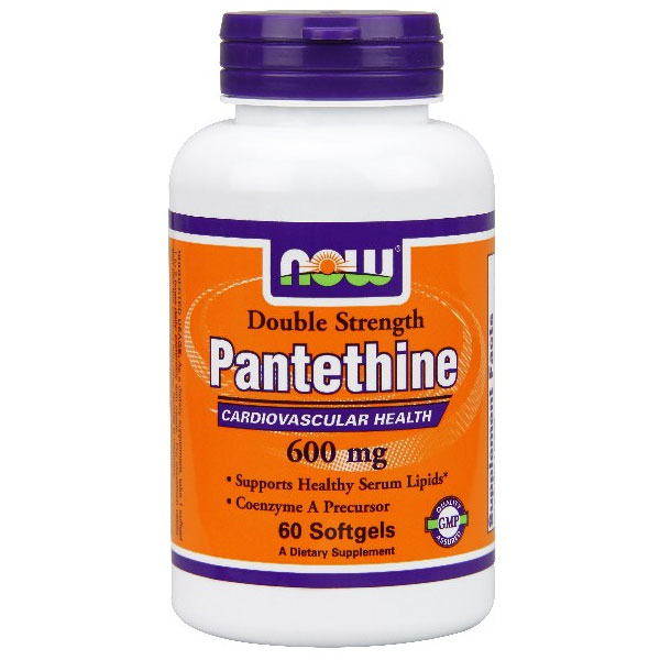 Pantethine 600 mg Double Strength, 60 Softgels, NOW Foods