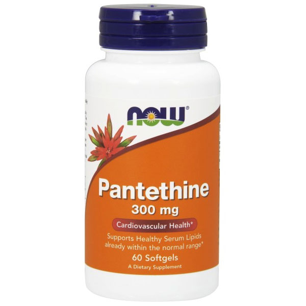 Pantethine 300mg 60 Softgels, NOW Foods