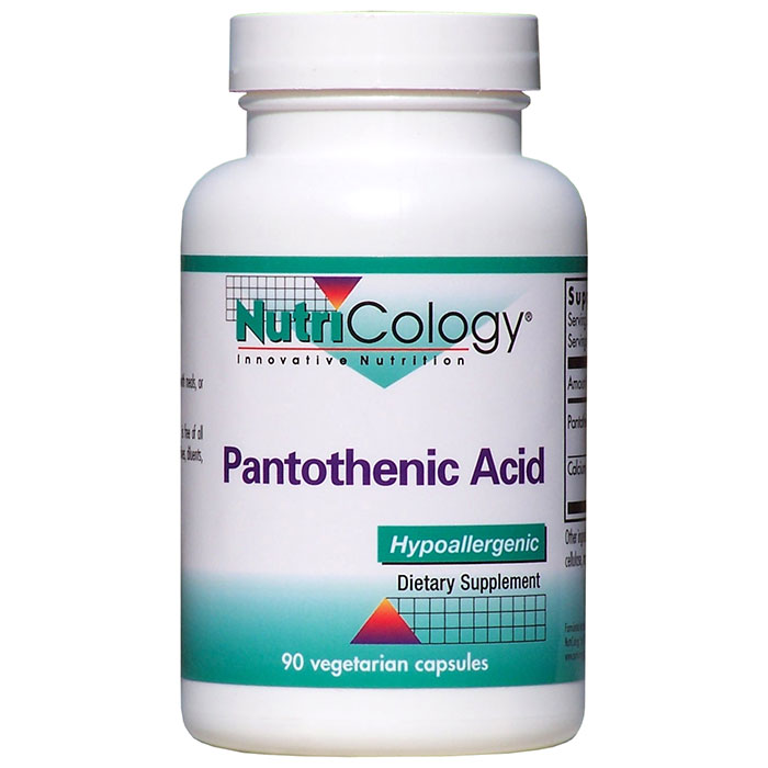 Pantothenic Acid 500mg Vitamin B5 90 caps from NutriCology