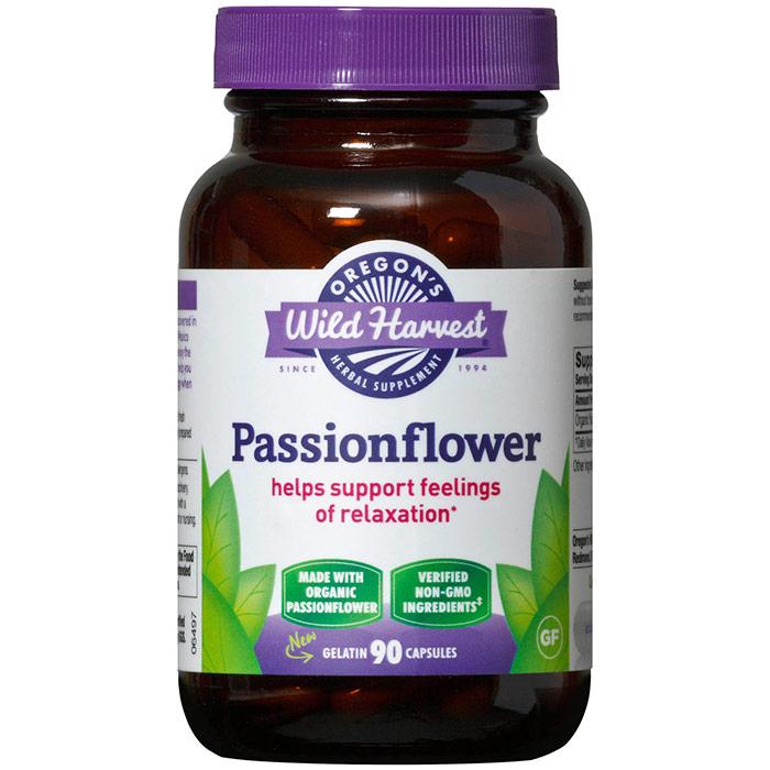 Passionflower, Organic, 90 Capsules, Oregons Wild Harvest