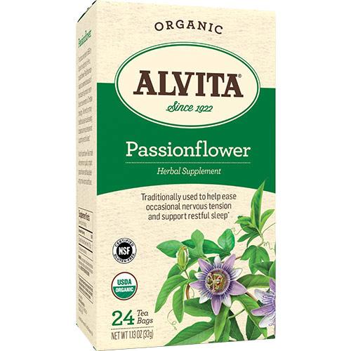 Passionflower Tea Organic, 24 Tea Bags, Alvita Tea