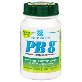 PB8 Vegetarian Formula, Pro-Biotic Acidophilus For Life, 120 Veggie Caps, Nutrition Now