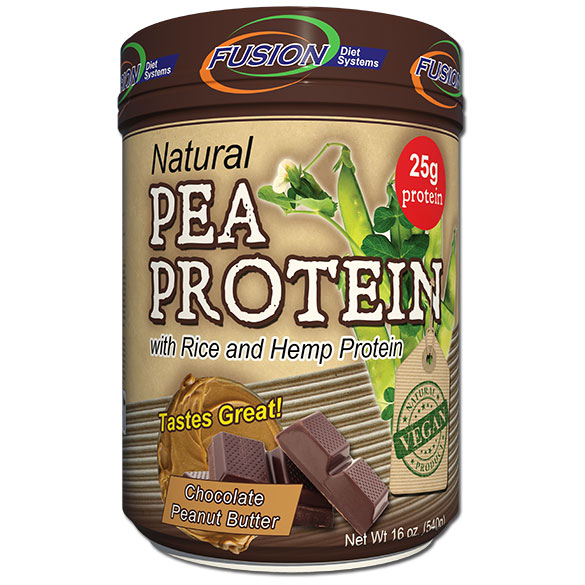 Pea Protein Shake Powder - Chocolate Peanut Butter, 16 oz, Fusion Diet Systems