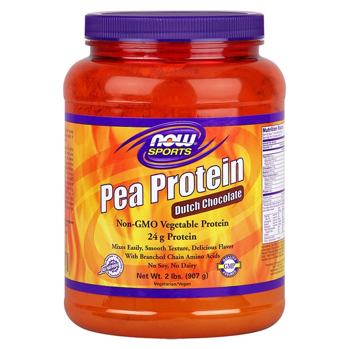 Pea Protein - Dutch Chocolate, 2 lb, NOW Foods