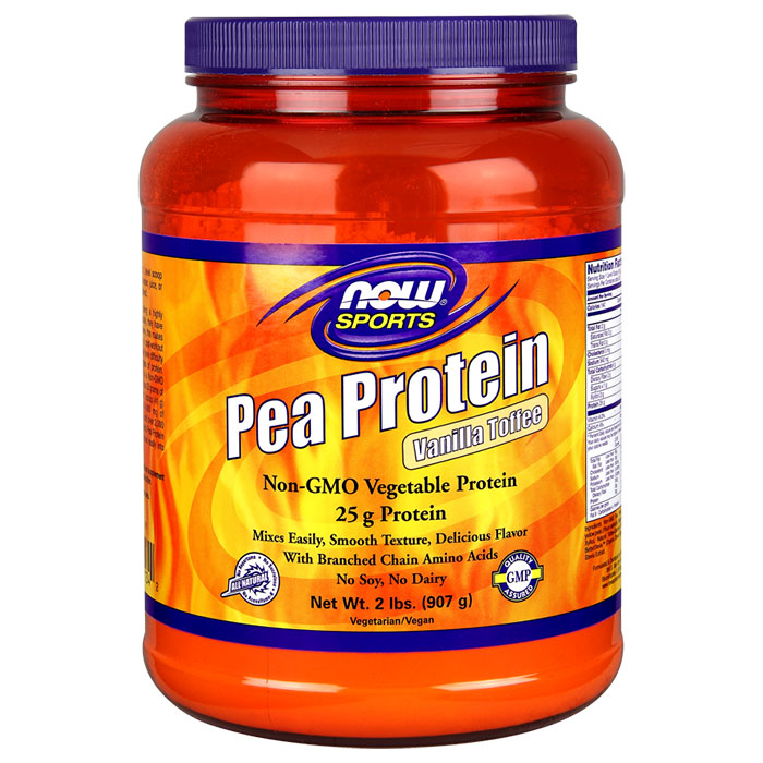Pea Protein - Vanilla Toffee, 2 lb, NOW Foods