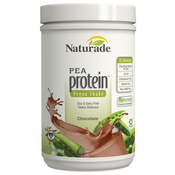 Pea Protein Vegan Shake - Chocolate, 16.5 oz, Naturade
